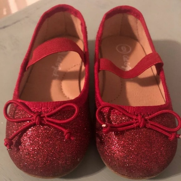 Jack Red Glitter Shoe Sz